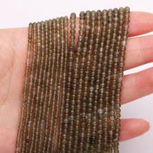 Горячая Распродажа натуральный камень из бисера 2 и 3 мм зеленая