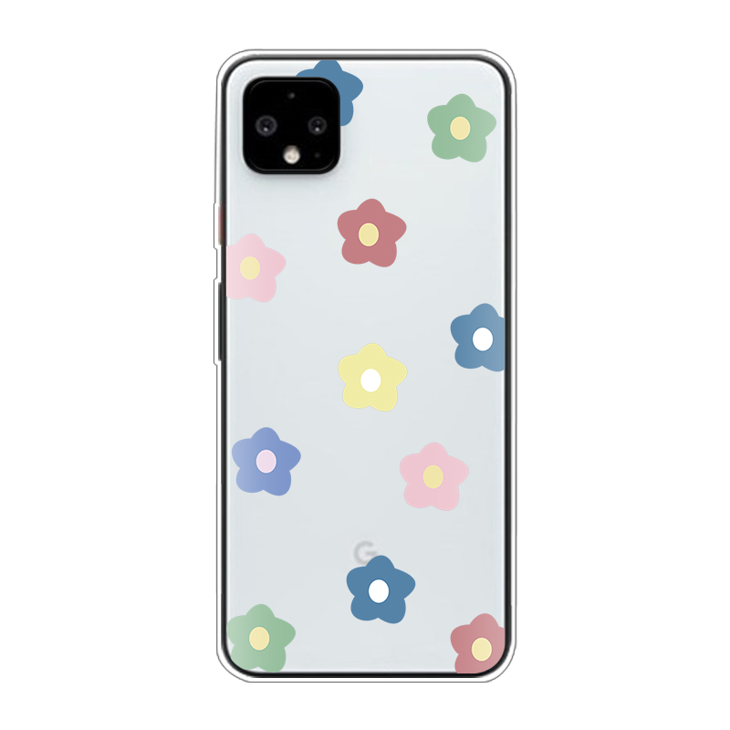 Daisy Flowers Clear Phone Case For Google Pixel 3A 4 3 XL Love Heart Soft Silicone Back Cover For Google Pixel 2 XL Coque Fundas