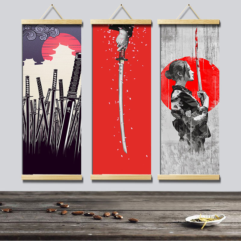 New Design Canvas Painting Wall Hanging Poster Vintage Japanese Style Home Decoration For Living Room Bedroom Art Supplies