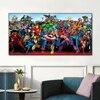 Marvel Superheros Characters Painting Printed on Canvas 1