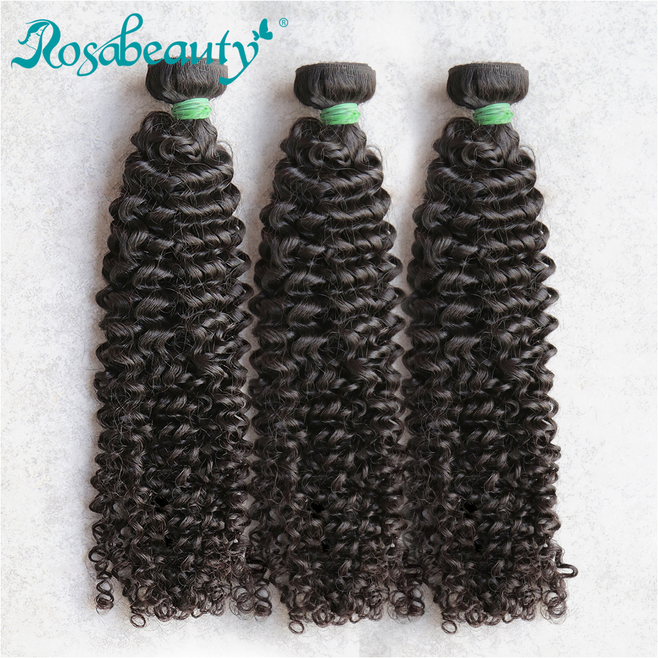 Rosabeauty Mongolian Kinky Curly 28 30 Inch 1 3 4 Bundles Remy 100% Human Hair Extension Weave Deep Wave Free Shipping