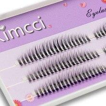Kimcci C/D/DD Curl Lunghezza Della Miscela 3D Visone Estensione Del Ciglio Naturale Russo Volume Ciglia Finte Trucco Faux ciglia finte Cilias