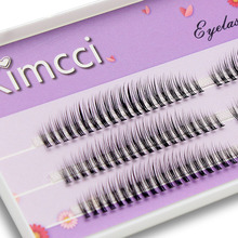 Kimcci faux cils naturels en vison, bouclés, Volume russe, longueur mixte C/D/DD, accessoire de maquillage