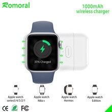 Upgraupgraded】para apple watch carregador sem fio, carregador iwatch magnético portátil para viagens ao ar livre, para apple watch series 12345