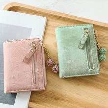 Wallet Female Short Paragraph Small Fresh Folding New Korean Version Of The Cute Student Multi-Function Coin Purse Card Package стоимость
