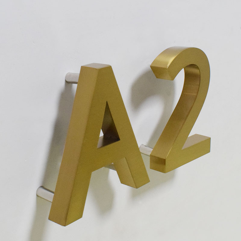 Metal 3D Led House Numbers 0-9 ABC Outdoor Waterproof Home Hotel Door Plates Stainless Steel Illumilous Lettre Sign Address Diy