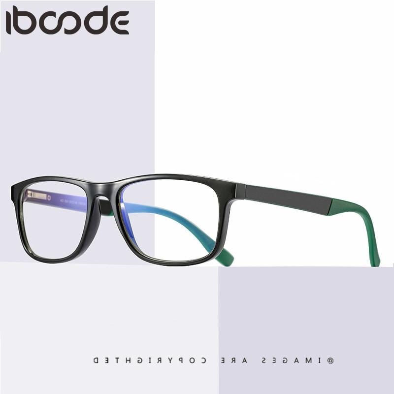 Iboode Women Men Anti Blue Rays Glasses Frame TR90 Square Computer Eyeglasses Coating Gaming Working Eye Protective Eyewear New