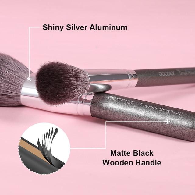 Docolor Black Makeup brushes set 10-29pcs Professional Natural hair brushes Foundation Powder Contour Eyeshadow make up brushes 3