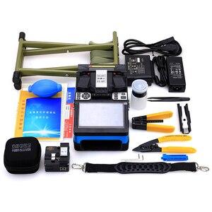 Image 5 - KELUSHI FTTH automatyczne połączenie światłowodowe Splicer maszyna FS 60F światłowodowe Splicers urządzenie do zgrzewania sklejania niebieski