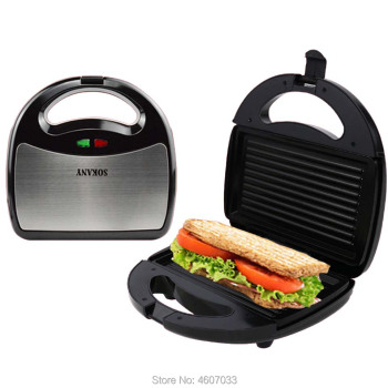 Stainless Steel Home Office Sandwich Maker Machine Toaster with Non-Stick Plate Toaster breakfast machine 750W EU AU Plug 1