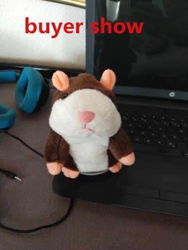 15 cm 박제 동물 봉제 말하기 햄스터 마우스 애완 동물 장난감 귀여운 말하기 소리 녹음 햄스터 아이 교육 장난감