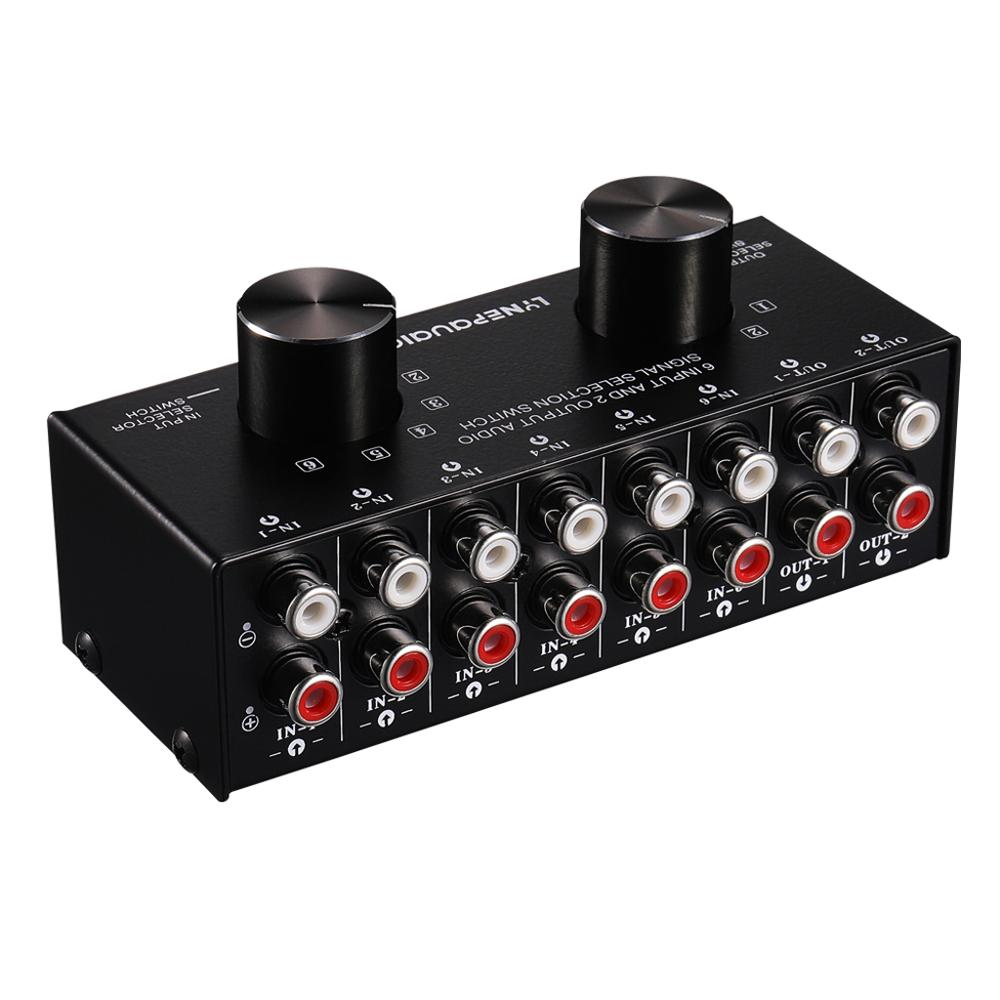 6 Input 2 Output Or 2 Input 6 Output Audio Signal Source Selection Switcher RCA Port