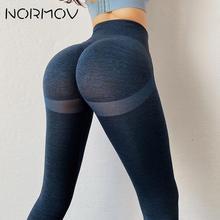 NORMOV Push Up Leggings Squat Proof High Waist Seamless Leggings Push Up Leggins Sport Women Fitness Running Seamless Leggings
