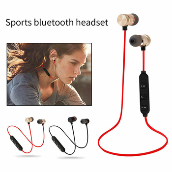 Bluetooth 4.1 Wireless Sports Earphones Magnetic Neckband Stereo Waterproof Earbuds Portavle In-Ear Headphones With Mic bluetooth earphone sports neckband magnetic wireless earphones stereo earbuds music with mic for iphone xiaomi metal headphones