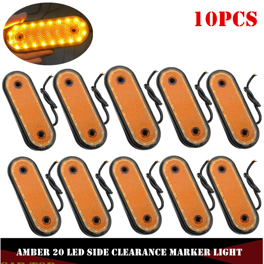 10PCS Amber Markerings Light Side Marker LED 24v Trusk Lamp Pickup Truck Side Marker Lights For Truck