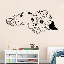 Wallpaper Sleeping Dalmatians Dog Animals Pets Veterinary Dog Wall Decal Animal Decal Wall Stickers Vinyl Art Home Decor  LW312 101 dalmatians
