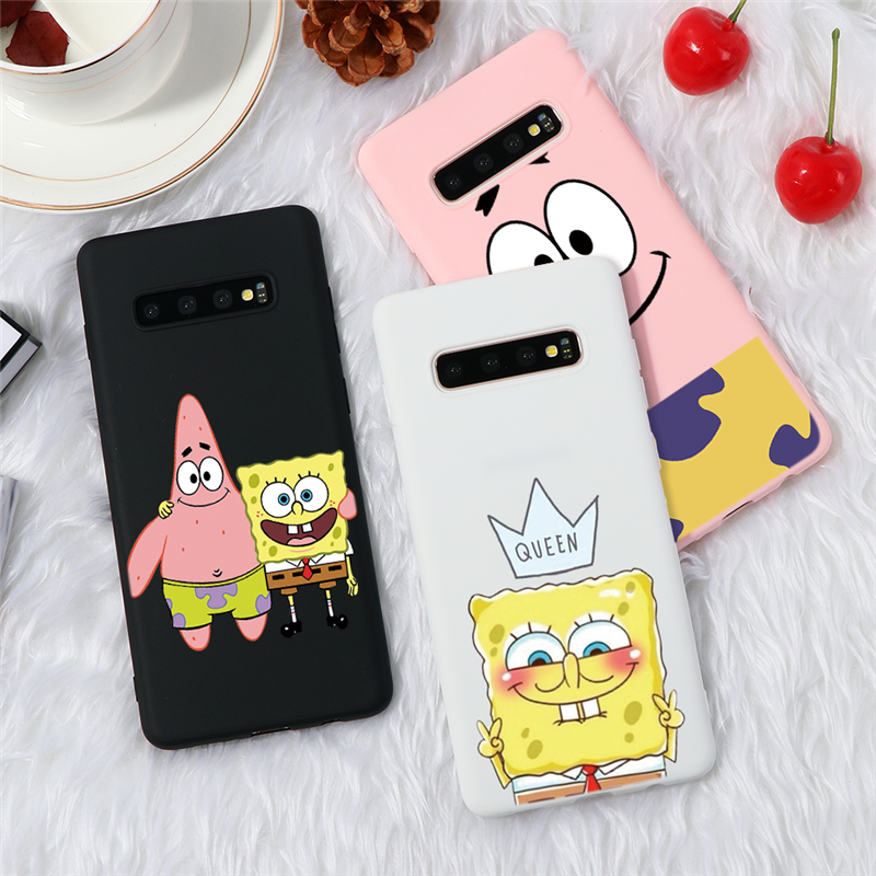 Spongebob Silicon Cover For Samsung Galaxy Note 10 Lite 9 S20 Ultra S10 S9 S8 Plus A71 A70 A51 A50 A40 A21 A9 A8 A7 J4 2018 Case