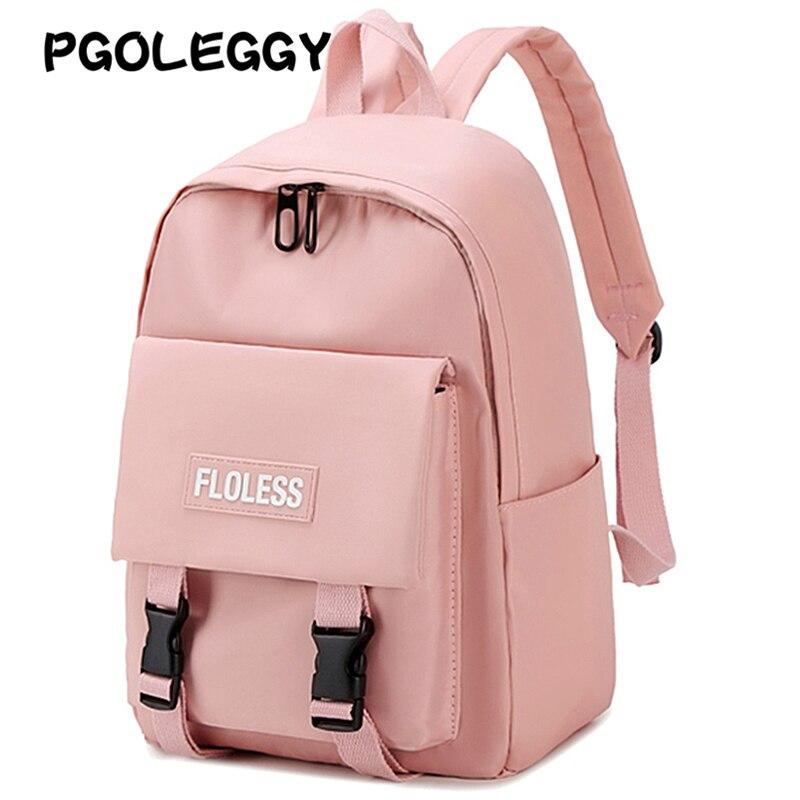 PGOLEGGY Fashion Backpack Women Waterproof Nylon Travel Backpack Harajuku School Bags Teenager Girls New Back Pack School Girl