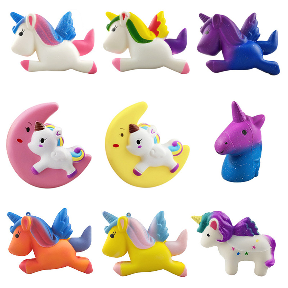 Cake Squishy Super Hero Spiderman Moon UnicornToy Squeeze Squishi Toy Squishie Slow Rising Stress Relief Toys For Childrens