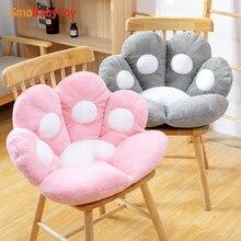 2 Sizes Cat Bear Paw Plush Seat Cushion Indoor Floor Stuffed Sofa Colorful Animal Decor Pillow for Children Boyfriend Gift