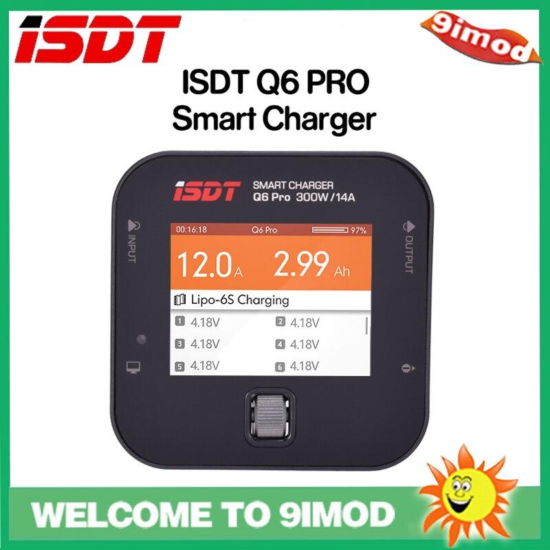 ISDT Q6 Pro BattGo 300W 14A chargeur de batterie Lipo de poche pour RC modèles bricolage pièce de rechange chargeur numérique intelligent