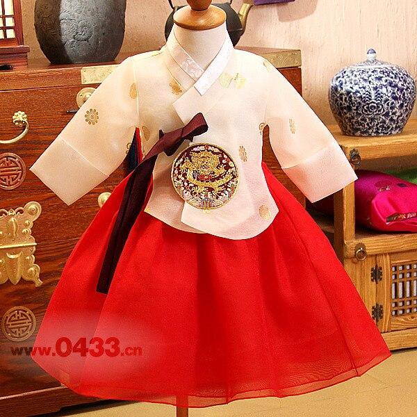 2019 NEW Lovely Girls Premium Korean Traditional Girl Hanbok Dress Kids Birthday Party Korean DolBook Handmade