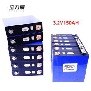 NEW 3.2V 150Ah lifepo4 Battery 8PCS Rechargeable Lithium Iron Phosphate solar 24V120AH 12V300Ah cells not 200Ah EU US TAX FREE(China)
