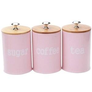 3 unids/set Pink Cute cocina Metal especias condimento bote sal azúcar pimienta contenedor tarro casa comida bote Snack tanque