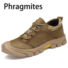 Phragmites Lightweight Walking Sneakers Fashion Lace Up Footwear Outdoor Hiking Men Shoes Leather Breathable Zapatillas Mujer