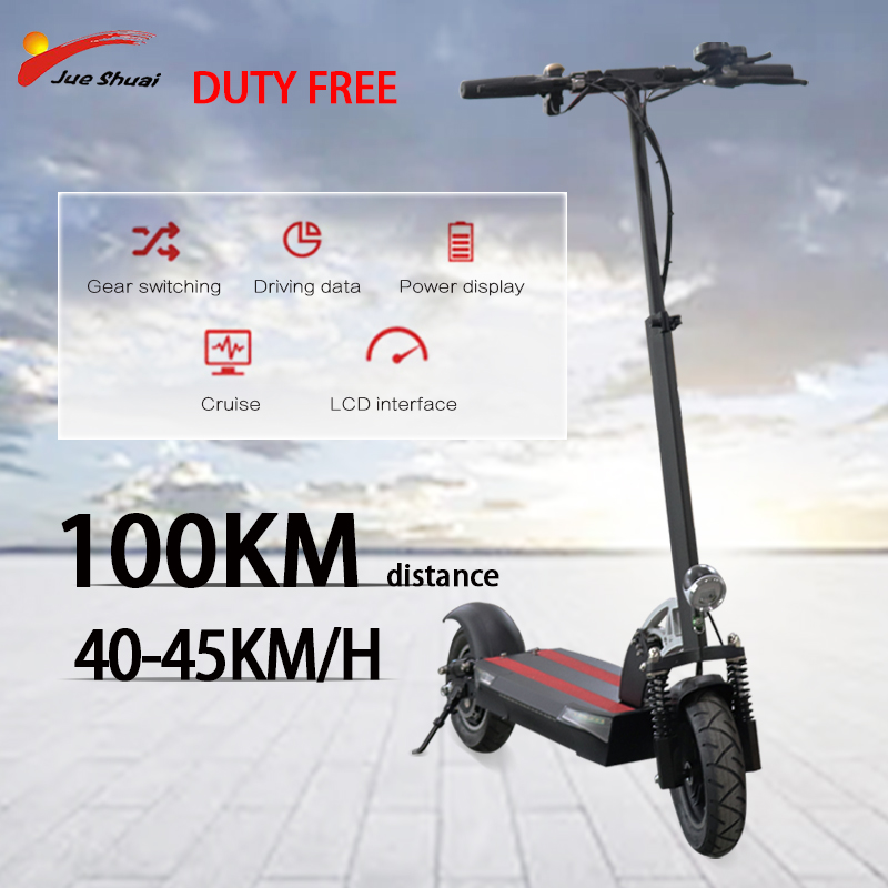 Long distance 100km 48V 500W <font><b>Electric</b></font> <font><b>Scooter</b></font> 10 inch <font><b>Motor</b></font> <font><b>Wheel</b></font> 26AH Lithium Battery Adults e <font><b>scooter</b></font> folding electrico adulto image