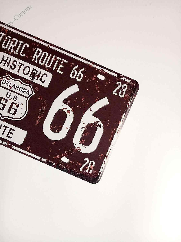 Металлическая Оловянная табличка, винтажная ретро на стену для дома и бара, автомобильные номерные таблички автомобилей, сувенир, старинный путь 66, тисненая бирка 15X30 см
