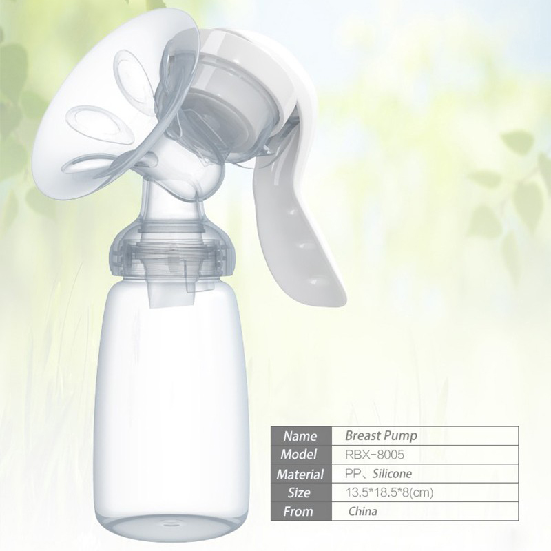 Manual Breast Pump for Powerful Suction with 150ml Feeding Milk Bottles suitable for Working Women 4