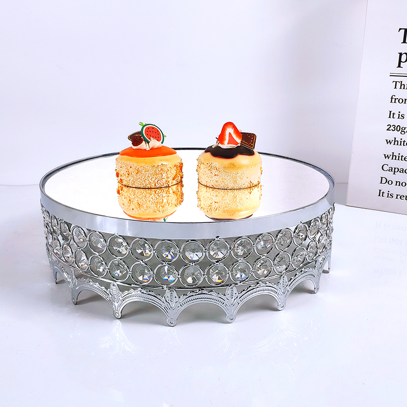Crown  Silver Wedding Display Cake Stand Cupcake Tray  Tools Home Decoration Dessert Table Decorating Party Suppliers