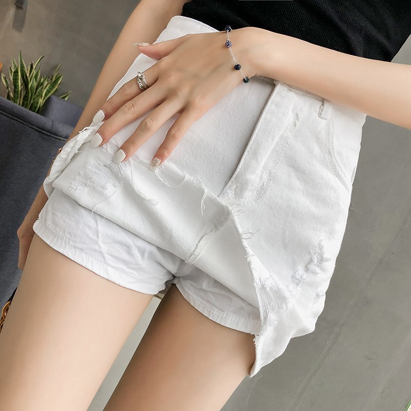 2020 New Women Denim Shorts Skirts Hole Tassel High Waist Mini Jeans Shorts Skirts Ladies Ripped Streetwear High Quality Clothes