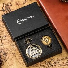 Vintage Men Pocket Watch Necklace Set Luxury Pendant Watches for Men Chain Clock Gifts Sets for Boys Reloj De Bolsillo
