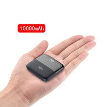 10000mAh Mini Power Bank Quick Charge Front Display Dual USB