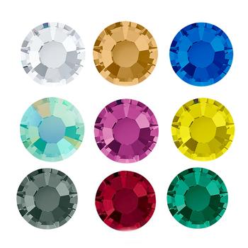 YANRUO 2058 poprawka Strass kamienie i kryształy żelazko na DIY kryształy Flatback rzemiosło do naszywania na odzieży tanie i dobre opinie CN (pochodzenie) Luźne dżetów Cyrkonie Hot-fix ROUND 2058HF Tak ( 50 sztuk) Glass Crystal Round Face With Flatback Grey Glue Hotfix Rhinestone
