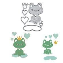 YaMinSanNiO Heart Cute Metal Cutting Dies New 2019 Lotus Leaf Love Frog Craft Scrapbooking Album Die Cut Embossing Stencils