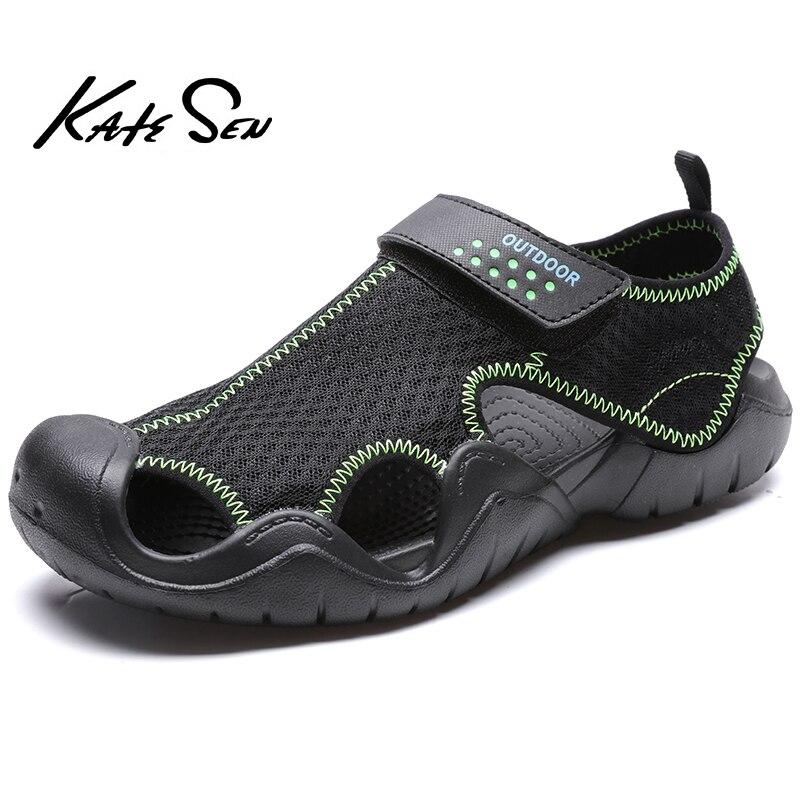 KATESEN Men's Shoes Summer Breathable Mesh Mens Sandals Outdoor Casual Shoes Men Beach Sandals Slippers Hombre Plus Size 40-48