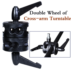Image 4 - Photo Studio NEW PHOTOGRAPHIC EQUIPMENT Double  wheel of cross arm turntable