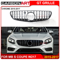 For Mercedes S Coupe amg GT Grill C217 A217 Auto Front Vertical racing Grille 2015 2019 Cabriolet for S400 S450 S550 w217 grill