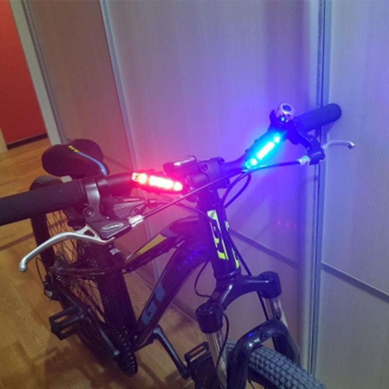 Lumière de vélo étanche arrière feu arrière LED USB Rechargeable VTT vélo lumière feu arrière sécurité voyant d'avertissement TSLM2