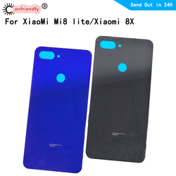 battery cover For Xiaomi mi 8 lite mi8lite Back Glass Battery Cover Rear Door Housing Case Back Cover For Xiaomi 8X MI8 lite