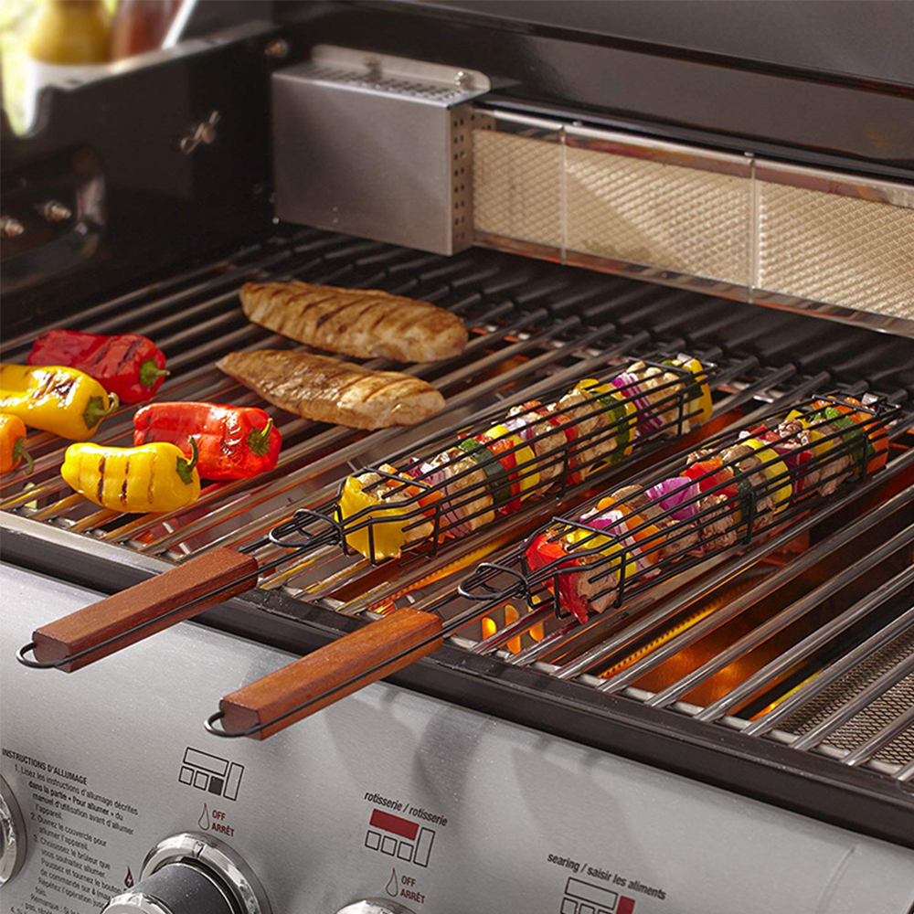 BBQ Grill Mesh Nonstick Barbecue Meshes Portable Fish Grilling Mesh Barbecue Basket BBQ Tools Kitchen Accessories