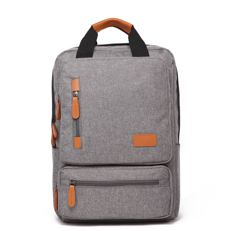 Casual 15.6 Inch Men's Laptop Backpack Large Capacity Travel Bags College Student School Backpack for Teenager Male Mochila image