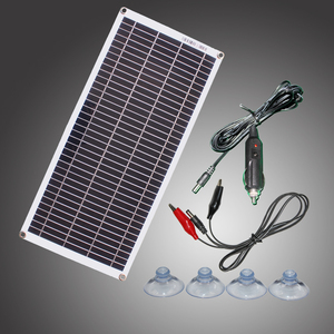 Image 1 - Semi flexible 10W 18V Portable Solar Panel with DC 5521 Cable For 12V Car