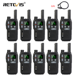 Retevis RB618 RB18 Dual PTT Walkie Talkie 10pcs PMR Radio PMR446 LCD Display FRS NOAA Two Way Radio  Walkie-talkies Transceiver