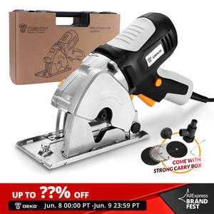 DEKO Mini Circular Saw Handle Power Tools, 4 Blades, BMC BOX Electric Saw with Personal Safety and Electrical Safety System
