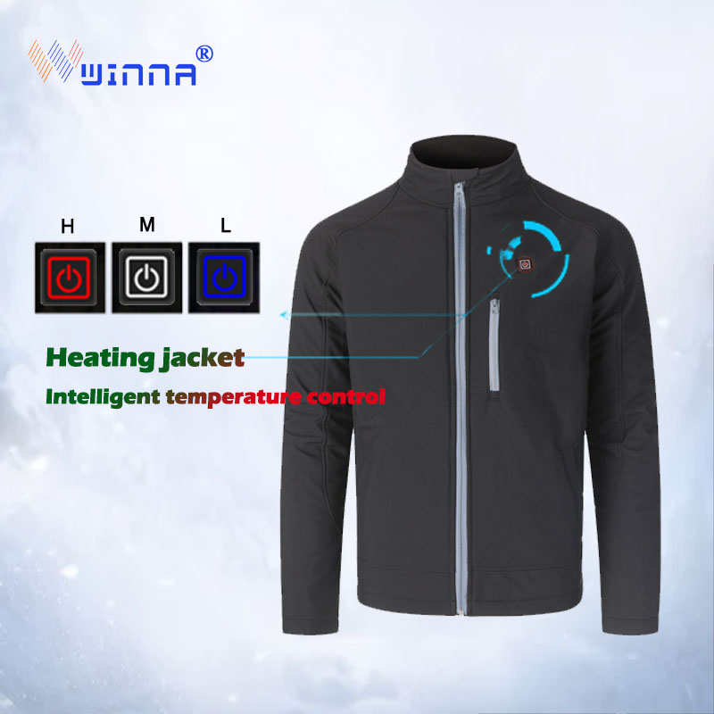 2019 Men USB Heated Jacket Winter Outdoor Long Hooded Heating CoatWaterproof Windbreaker Men Winter Coat Mens