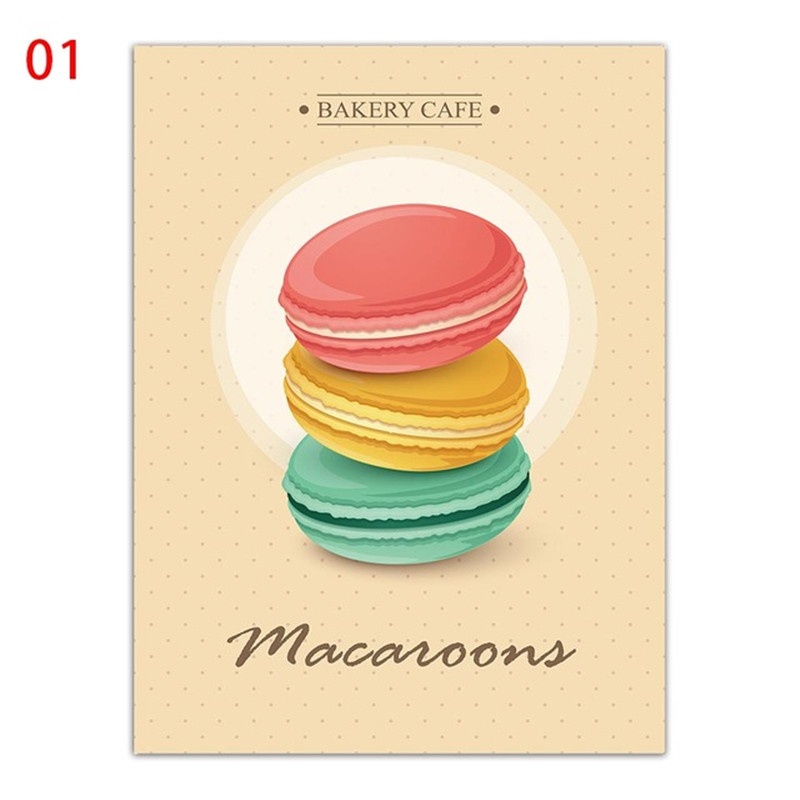 Nordic Style Canvas Art Prints A4 Painting Room Minimalist Cartoon Poster Macaroon Bakery Cake Wall Pictures